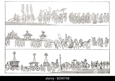 supposed order of the march of israelites to japan partly taken fropm ancient pictures epitome of the ancient history - Stock Photo
