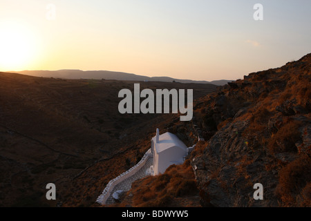 Chapel in Kythnos Island Greece - Stock Photo