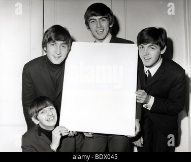 BEATLES in 1963. Clockwise from top: George Harrison, Paul McCartney, Ringo Starr and John Lennon - Stock Photo