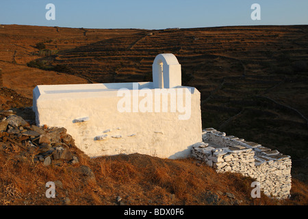 Chapel in Kythnos Island Greece - Stock Photo