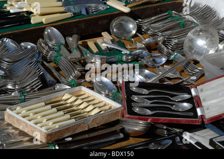 Silver cutlery for sale - Stock Photo