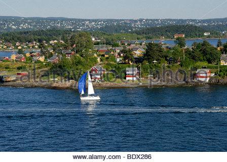 Oslo Fjord, Norway, Scandinavia, Europe - Stock Photo