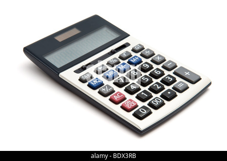 Business calculator isolated on white background Stock Photo