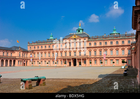 Schloss Rastatt castle seen from the courtyard, Rastatt, Black Forest, Baden-Wuerttemberg, Germany, Europe - Stock Photo