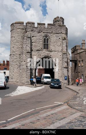 Canterbury Towers , West Gate, Kent England - Stock Photo