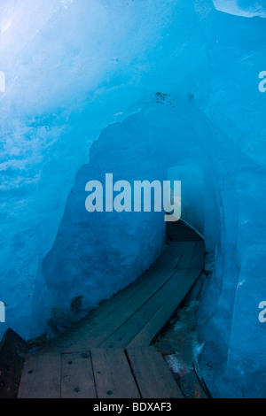 Rhone glacier, 2009, Canton Uri, Switzerland, Europe - Stock Photo