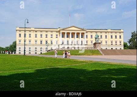 Royal Palace, Oslo, Norway, Scandinavia, Europe - Stock Photo