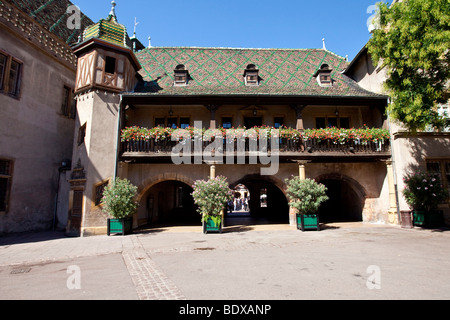 Place de l'Ancienne Douane, historic town centre of Colmar, Alsace, France, Europe - Stock Photo