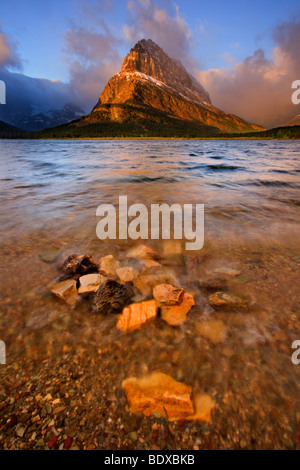 Swiftcurrent lake, Glacier National Park - Stock Photo