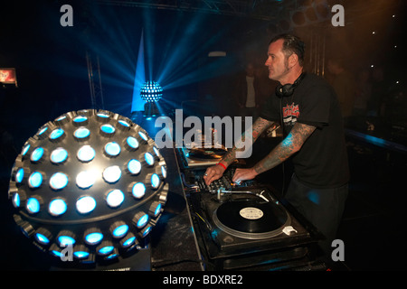 Techno Nature One Festival 2009, DJ Dag Kastellaun, Rhineland-Palatinate, Germany, Europe - Stock Photo