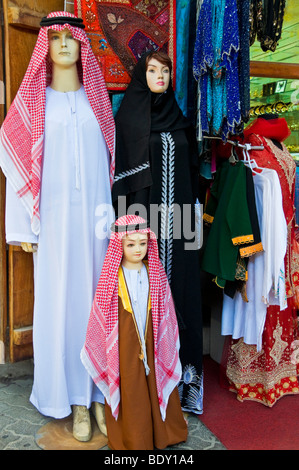 Shop selling local outfits Bur Dubai - Stock Photo