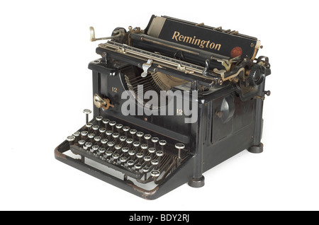 An old 1930's 1940's Remmington Typewriter - Stock Photo