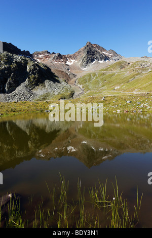 Weisssee Lake, Kaunertal, Oetztal Alps, Tyrol, Austria, Europe - Stock Photo