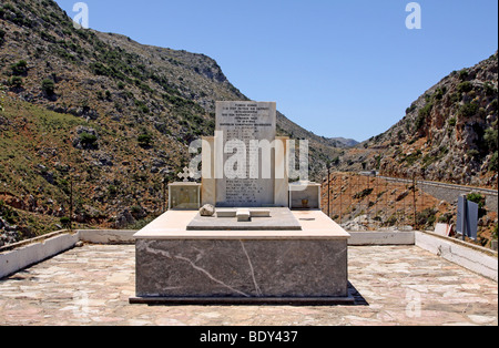Monument to the dead of World War II, Psiloritis Mountains, Crete, Greece, Europe - Stock Photo