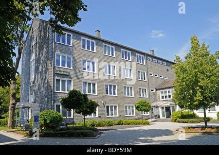 Town hall, Bad Berleburg, Siegen Wittgenstein district, North Rhine-Westphalia, Germany, Europe - Stock Photo