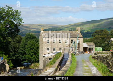 Gayle Mill, Gayle, Wensleydale, Yorkshire Dales National Park, North Yorkshire, England UK - Stock Photo