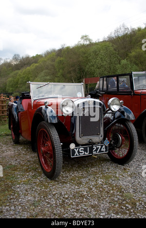 Austin Seven sports car entered in a classic car rally - Stock Photo