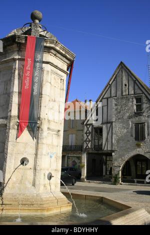 Chateau de la Bastide d'Eymet, Dordogne - Stock Photo