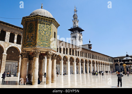 Treasure house of the Ottomans in the courtyard of the Umayyad-Mosque in Damascus, Syria, Middle East, Asia - Stock Photo