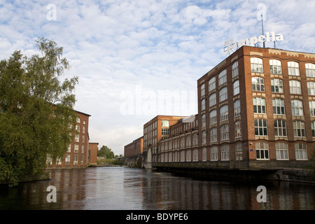 The Tampella factory in the city of Tampere, Finland. Tampere is Scandanavia's largest inland city. - Stock Photo