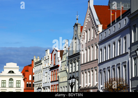 Town houses at market square / Wismar - Stock Photo