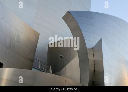 Walt Disney Concert Hall, detail, architect Frank O. Gehry, Los Angeles, California, USA - Stock Photo