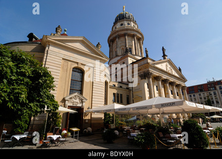 French Cathedral at the Gendarmenmarkt, Franzoesischer Dom, French Cathedral, Berlin, Germany, Europe - Stock Photo