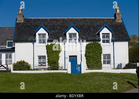 House on Iona, Inner Hebrides, Scotland, United Kingdom, Europe - Stock Photo