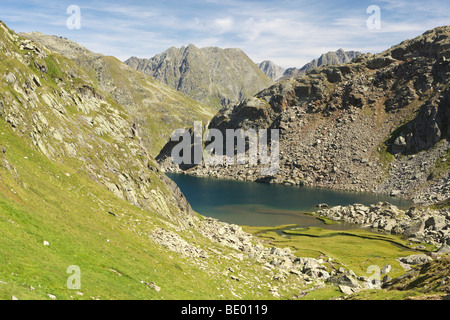 Lai da Tuma, source of the Rhine River, Anterior Rhine, Switzerland, Europe - Stock Photo