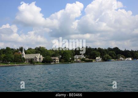 Skanaeateles Lake, city of Skaneateles, Finger Lakes region of New York State - Stock Photo