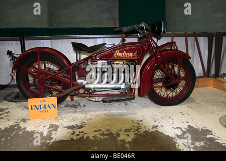Indian Four Cylinder Motorcycle Classic American Motorcycle Stock