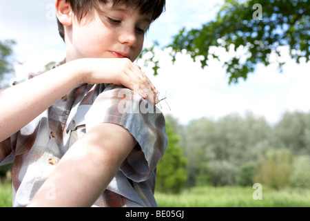 Kids in Garden - Stock Photo