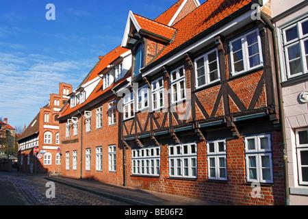Row of houses / Luneburg - Stock Photo