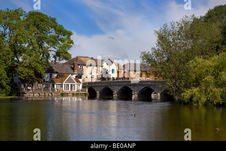 Bridge and River Avon, Fordingbridge, Hampshire, England - Stock Photo