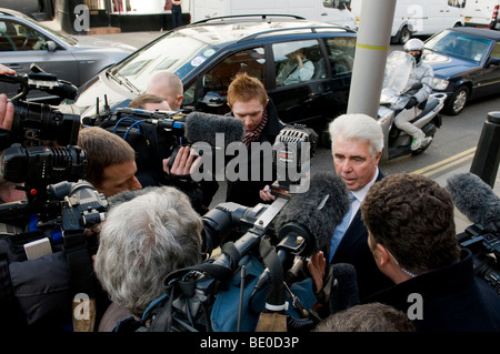 Max Clifford, publicist and PR agent.  Here during visit to his client Jade Goody, in the Royal Marsden Hospital. - Stock Photo