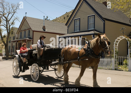 Horsedrawn carriage: Virginia City, Nevada - Stock Photo