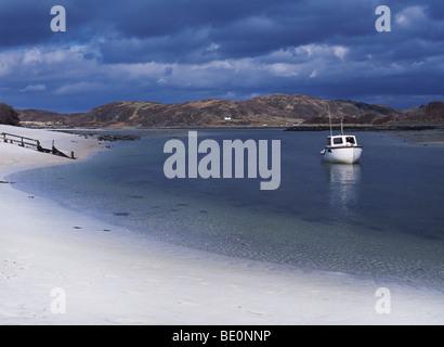 Loch Morar and the white sands of Morar, Lochaber, Great Britain, UK - Stock Photo
