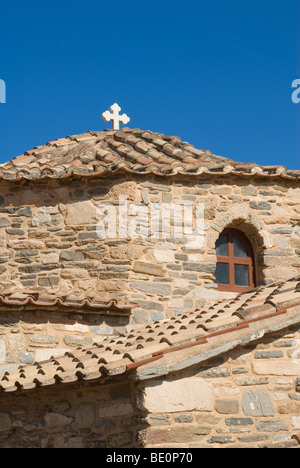 Detail of the Baptistery of the Church of Our Lady of a Hundred Doors, Paros, Greece - Stock Photo