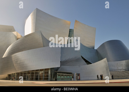 Walt Disney Concert Hall, partial view, architect Frank O. Gehry, Los Angeles, California, USA - Stock Photo