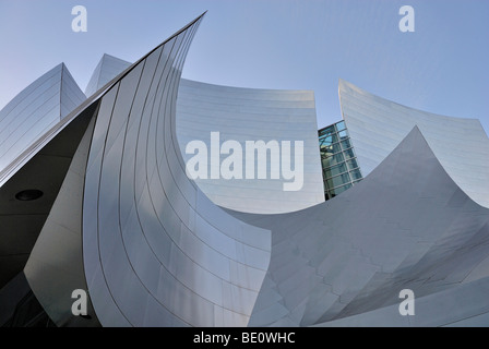 Walt Disney Concert Hall, façade detail, architect Frank O. Gehry, Los Angeles, California, USA - Stock Photo