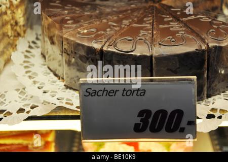 Eastern Europe, Hungary, Hungarian Cream cakes - Stock Photo