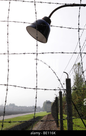 barbed wire fence at Dachau Concentration Camp Munich Germany ...