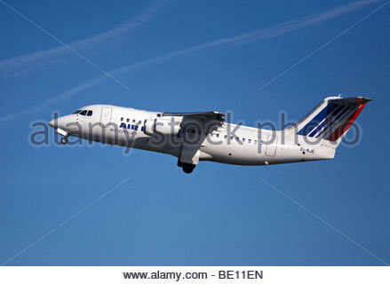 Air France Cityjet flight shortly after takeoff - Stock Photo