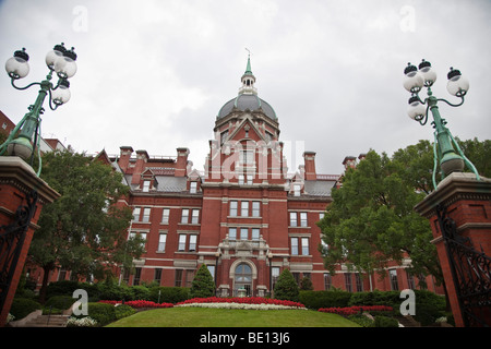 The Johns Hopkins Hospital in Baltimore, MD has, for the 19th consecutive year, won the #1 spot in the annual rankings. - Stock Photo