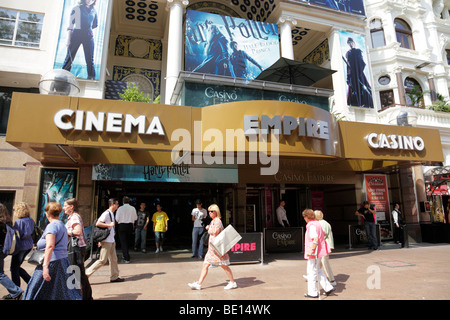 entrance to the empire cinema and casino leicester square london uk - Stock Photo
