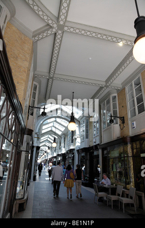 interior of the burlington arcade britains first covered passageway for shopping opened in 1819 piccadilly london - Stock Photo