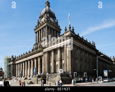 Leeds Town Hall designed by the local architect Cuthbert Broderick, Leeds, West Yorkshire, England - Stock Photo