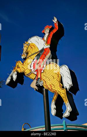 Cowboy on horse sign, Las Vegas