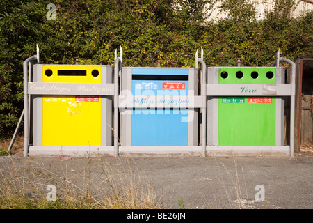 Recycling facility in France - Stock Photo