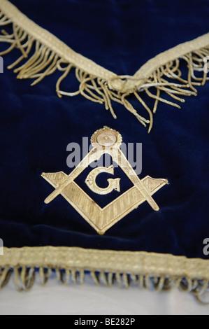 The Symbol Of The Freemasonry Masonic Square And Compass Stock